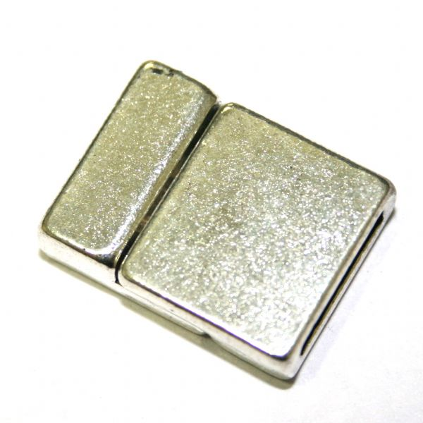 1 x 20mm Silver Plated Magnet Clasps Rectangular Shape -- S.FC01